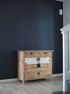 Denim Wooden Walls, Nightstand, Cottage, Table, Beach Houses, Furniture, Denim, Home Decor, Life
