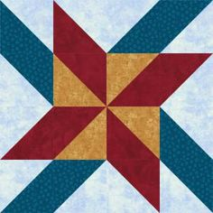 """Free quilt block patterns for quilters of every skill level. Use my block patterns for inspiration and to create a unique new quilting project.: Mosaic Pinwheels Quilt Block Pattern - 8"""" & 24"""" Blocks"""