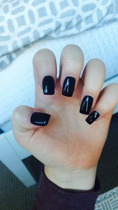 black square acrylic nails