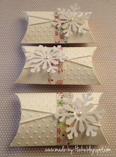 """Meine kreative Welt...: """"Winterliche Pillowbox""""..."""