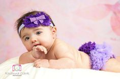 Purple Ruffled Bloomer and Headband by TutullyCuteDesigns on Etsy, $18.95