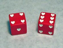 Imagine if both of you have a dice each and every heart would stand for a kiss. You deserve a kiss for every heart you earn wherever you want.