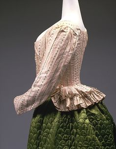 Jacket  --  Circa 1785  --  French  --  Silk & linen  --  The Costume Institute at The Metropolitan Museum of Art