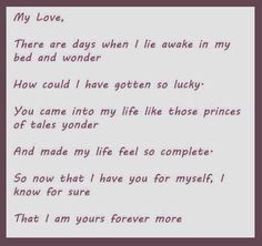 I'm yours forever more!! ;)