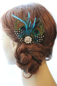 Peacock Fascinator - DIY Idea ? what do you think about something like this?