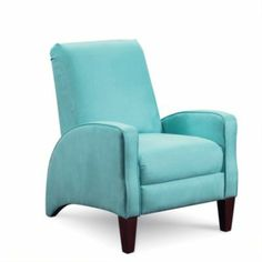 """DECLINED - DH agrees not well-made. $549. Recliner. Order from US Mattress (FurnitureCrate has bad customer service reviews). """"Unisuede"""" (?) - Love the shape and color but this does not appear well-made (note seam placement and puckered corners on upholstery)."""