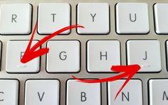 Die streepjes onder de toetsen hebben een handige functie! Sommige dingen neem je voor lief en vallen je helemaal niet op. Zo z... Lifehacks, Whatsapp Message, Computer Keyboard, Tricks, Cleaning Hacks, Smartphone, Iphone, Computers, Laptop