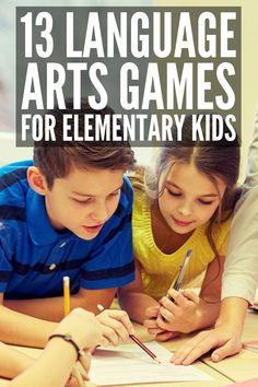 13 Elementary Language Arts Games | Contrary to popular belief, teaching kids about language and literature doesn't have to be boring! Perfect for teachers in the classroom and homeschooling super moms, these fun language arts activities are perfect for independent work, literacy centers, and kids working in small groups focused on grammar, parts of speech, sentences, spelling, or guided reading, and more! #languagearts #literacy #literacycenters #grammar #partsofspeech
