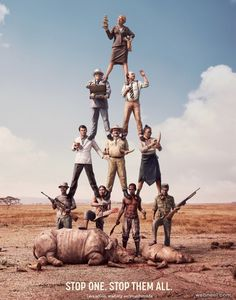 WWF is leading a global campaign to stop wildlife crime. Illegal wildlife trade has exploded to meet increasing demand for elephant ivory, rhino horns… Clever Advertising, Print Advertising, Advertising Campaign, Print Ads, Social Advertising, Guerrilla Marketing, Social Marketing, Print Poster, Desgin