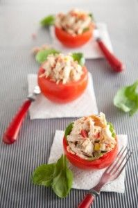 curried chicken salad stuffed tomatoes.....