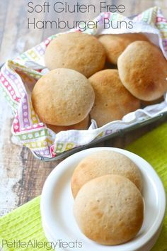 Soft Gluten Free Hamburger Buns-Free (vegan egg free)  Super soft, wont' fall apart easy that will stay fresh for days. free of the top 8 allergens