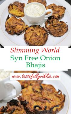 These Syn Free Baked Onion Bhajis are so simple and delicious to compliment any Slimming World curry recipe. via These Syn Free Baked Onion Bhajis are so simple and delicious to compliment any Slimming World curry recipe. Slimming World Vegetarian Recipes, Slimming World Dinners, Slimming World Recipes Syn Free, Slimming World Breakfast, Slimming Eats, Slimming World Vegetable Curry, Slimming World Curry Sauce, Slimming World Food, Slimming World Taster Ideas