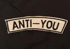 ANTI-YOU Patch di MonPatchDesign su Etsy