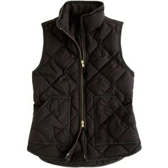 J.Crew Excursion quilted vest ($110) ❤ liked on Polyvore featuring outerwear, vests, jackets, tops, coats, puffer vest, j.crew vest, vest waistcoat, slim vest and zipper vest