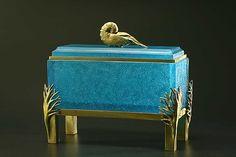Nautilus Box by Georgia Pozycinski, Joseph Pozycinski: Art Glass and Bronze Sculpture available at www.artfulhome.com
