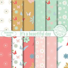 These digital papers are for a happy day 'It's a door PrintableTales