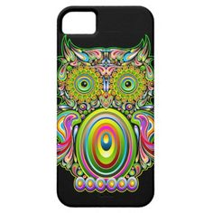 Colorful, cute and whimsical, pretty Owl Psychedelic Popart iPhone 5/5S Case