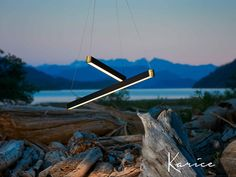 Retta linear LED light a pendant with a new twist on a linear design