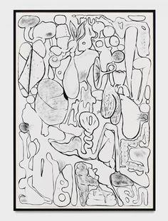 Mike Kelley Platonic Guts 1988 acrylic on paper 60 1/4 x 41 3/4 in.