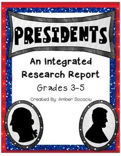 This President Research Report allows students to navigate informational text, record findings, publish their research into a mini-book, and present to their peers.This engaging report aligns with 18 of the 3rd grade ELA Common Core State Standard, 21 of the 4th Grade ELA Common Core State Standards, and 22 of the 5th Grade ELA Common Core State Standards.