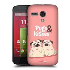 HEAD CASE DESIGNS PIPER THE PUG AND KISSES HARD BACK CASE COVER FOR MOTOROLA MOTO G