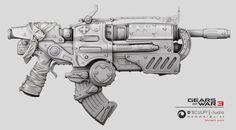 Gear of War-Gun, D'sculpt  Studio on ArtStation at https://www.artstation.com/artwork/gear-of-war-gun