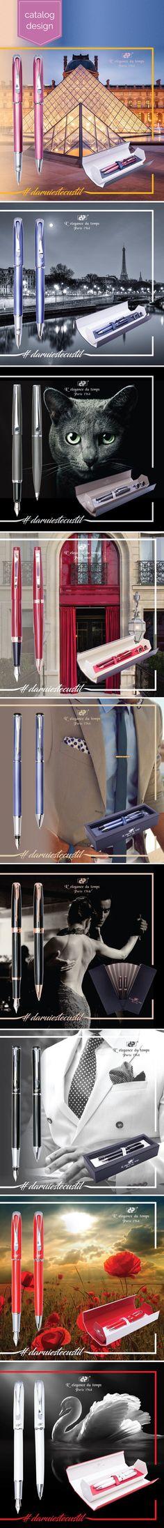 Catalog design for luxury writing instruments Catalog Design, Writing Instruments, Creative Design, Luxury