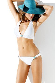 Haven White Halter Swimsuit
