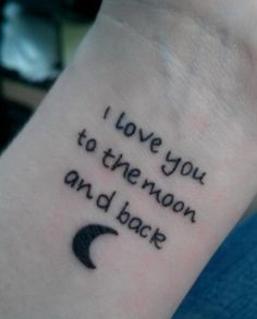 22 moon and words on wrist
