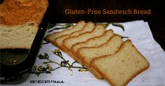 This gluten-free sandwich bread recipe is moist and delicious. It's easy to make and tastes great toasted with butter or as a sandwich bread.