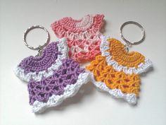 Crochet Mini Dress Keychains
