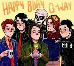 this awesome art is by @where.areyou.destroya on instagram (: go follow them they do loads of cool fan art (some frerard as well)