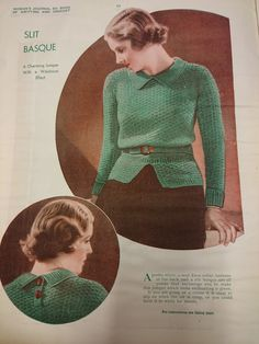 The Vintage Pattern Files: Free 1930's Knitting Pattern - One to Knit & One to Crochet