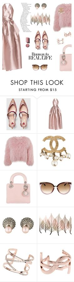 """""""Holiday night out"""" by pensivepeacock on Polyvore featuring Gucci, Alexis Mabille, Charlotte Simone, Christian Dior, Artistica, Dorothy Perkins, Yves Saint Laurent and Chanel"""