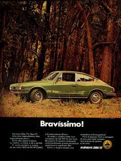 Anúncio Karmann Ghia TC - 1970