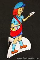 Step 7 Community Helper Paper Dolls craft  see makeing friends more info