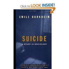 Suicide: A Study In Sociology: Emile Durkheim, George Simpson, John A. Spaulding: 9780684836324: Amazon.com: Books