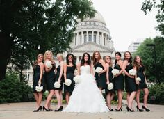 Bride and Bridesmaids. Wedding Feature in 2013 Mississippi Magazine of Bryant/ Snell. Photo by Rachel Kabukala.