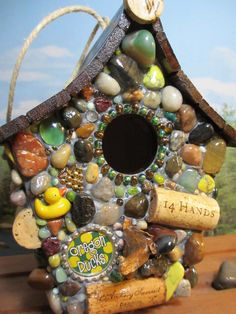 mosaic+birdhouses | Oregon Ducks Outdoor Mosaic Birdhouse Ready to hang Outdoors with wine ...