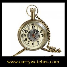 #retrowatches Numeral Brass Metal Mechanical Pocket Watch Open Face Design for Men Women Vintage - 1.8 Inch Check https://www.carrywatches.com