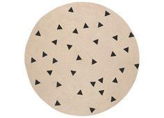 vrolijk jute tapijt met funky prints Ferm Living | kinderen-shop Kleine Zebra