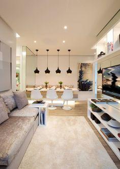 MAC_NEW RESIDENCE IPIRANGA 53m²: Salas de estar modernas por Chris Silveira & Arquitetos Associados
