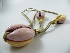 Rare Vintage 80's JACKY de G Long Pendant Necklace, Cypraea Shell X-Large Beads #JackydeG #Pendant Long Pendant Necklace, Antique Jewelry, Vintage Antiques, Shells, Beads, Old Jewelry, Conch Shells, Beading, Ancient Jewelry