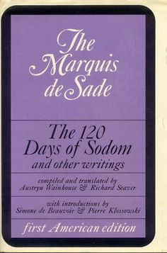 The Marquis de Sade, THE 120 DAYS OF SODOM.  Grove Press, 1968. First American edition. Cover design by Roy Kuhlman. www.roykuhlman.com