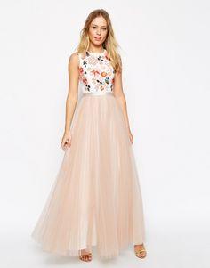 Maxi robe mariée rose Needle & Thread - ClicknDress