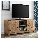 The Gray Barn Firebranch 58 Barn Door TV Stand Console - 58 x 16 x (Barnwood) Saracina Home, Swivel Tv Stand, Barn Wood, Rustic Barn Door, Barn Door Tv Stand, Walker Edison Furniture Company, Living Room Wood, Barn Door Tv Console, Rustic Entertainment Center