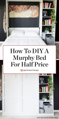 Before and After: A DIY Murphy Bed for a Third of the Cost of Store-Bought - diy furniture plans Murphy Bed Office, Build A Murphy Bed, Murphy Bed Plans, Murphy Beds, Murphy Bed With Couch, Cheap Murphy Bed, Murphy Bed Kits, Murphy Bed Desk, Best Murphy Bed