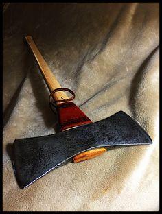Vintage Gransfors Bruks Double Bit Axe w/Custom Leather by John Black