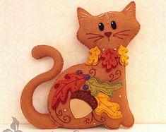 Gato de peluche patrón de los animales  por SquishyCuteDesigns