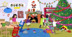 Kerst by Paula Prevoo Illustration Noel, Illustrations, Theme Noel, Toddler Preschool, Converse, Kids Learning, More Fun, Cool Pictures, Christmas Crafts